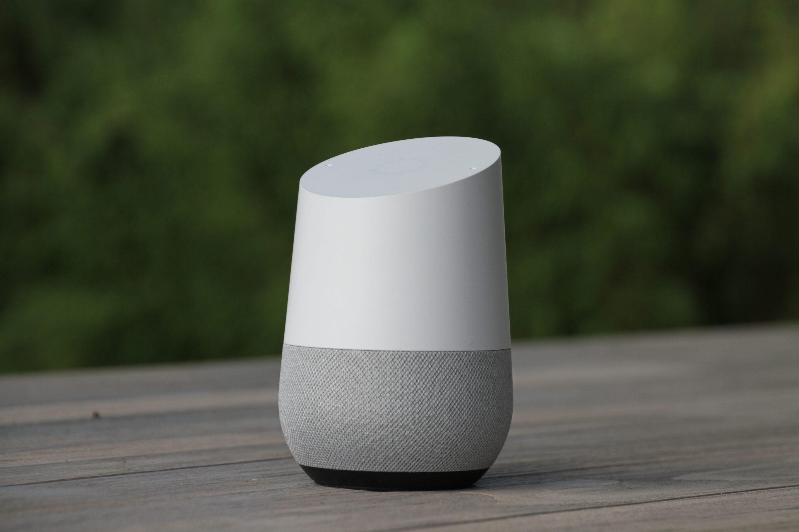 Image de Google Home, example de recherches vocales sur Google